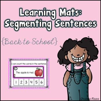 Segmenting Sentences {Back to School} Learning Mats