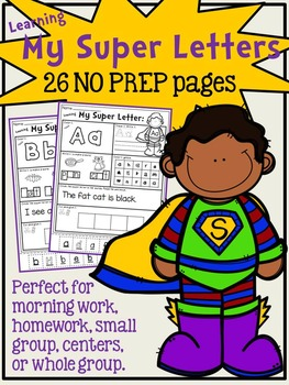 Learning My 26 Super Letters - NO PREP alphabet - Common C