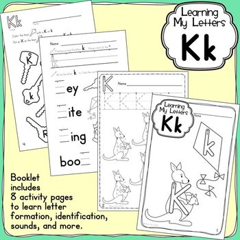 Alphabet Activities: Learning My Letters [Kk]