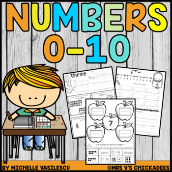 Numbers 0-10: Number Words, Ten Frames, Tally Marks, Finge