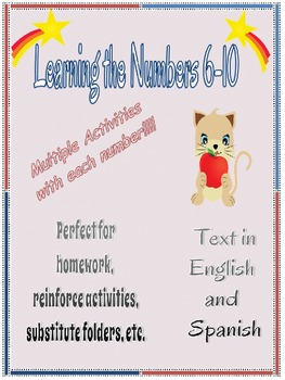 Learning Numbers 6-10 English and Spanish