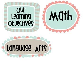 Learning Objective Headings