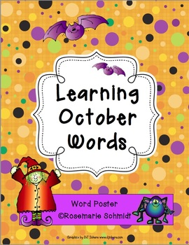 Learning October Words K-4