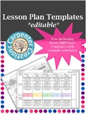 Learning Plan/Lesson Plan Template w/ IEP Goals Included