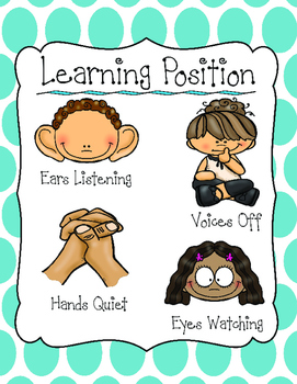 Learning Position Poster: Classroom Management