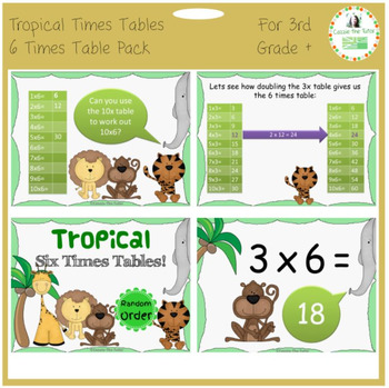 Times Tables Power Point Pack: Learning & Practicing the 6
