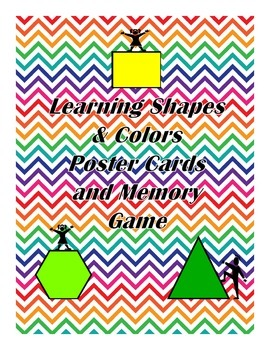 Learning Shapes and Colors Poster Cards & Memory Game