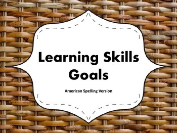 """Learning Skills """"I will"""" Charts {Wicker Theme} - American"""