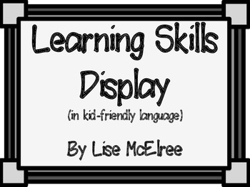 Learning Skills Poster Set (Grayscale)