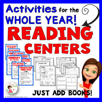 Reading Centers - Reading Learning Stations - Literacy Sta