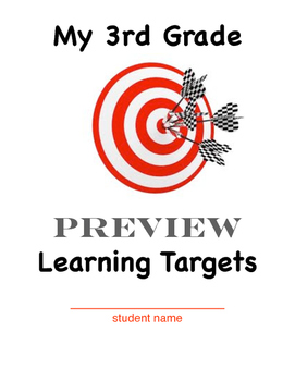 Learning Target Cover Sheets K - 5 Bundle