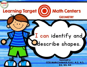 Learning Target Math Centers: Geometry