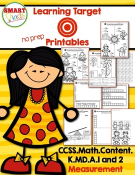 Learning Target Math Printables: K.MD.A.1 and 2 Measurement