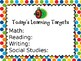 Learning Target Poster (Editable)