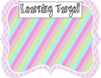 Learning Target Poster (purple dot rainbow stripe)