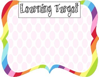 Learning Target Poster (rainbow pink dot)