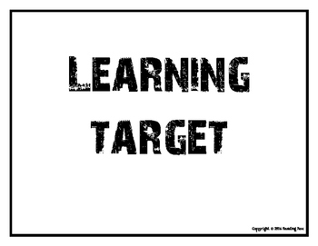 Learning Target signs