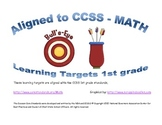 Learning Targets 1st grade CCSS- Math