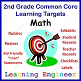 2nd Grade Checklists, Learning Target Posters, 2nd Grade Rubrics