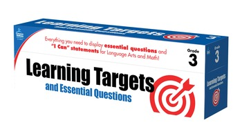 Learning Targets and Essential Questions Grade 3 SALE 20%