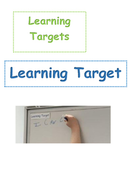 Learning Targets: print and let students pick one a day to write