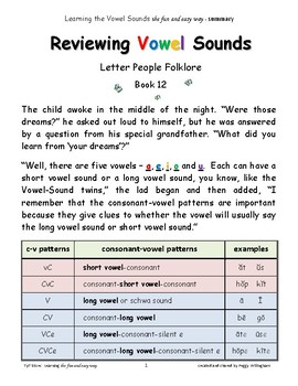 Learning Vowel Sounds Bk.7 - Reviewing Vowel Sounds