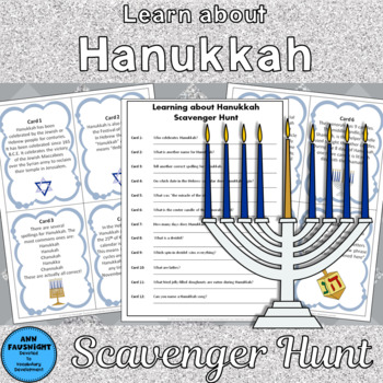Learning about Hanukkah Scavenger Hunt