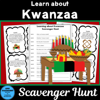 Learning about Kwanzaa Scavenger Hunt