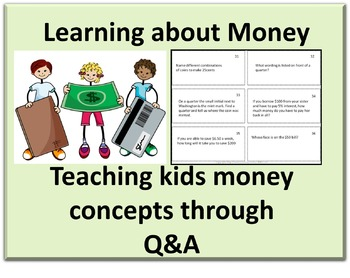 Learning about US Money and Money Concepts card game