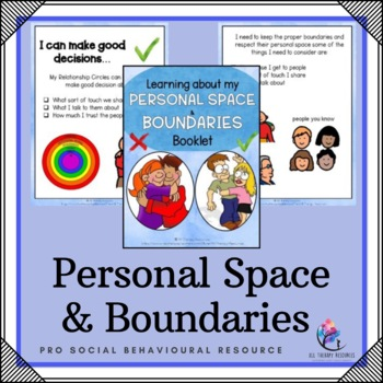 Learning about my Personal Space & Boundaries Booklet