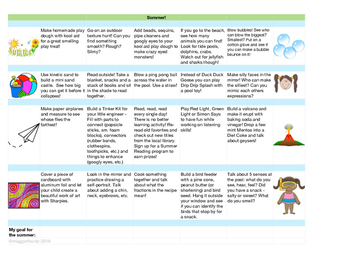 Learning at Home Calendar - Summer!