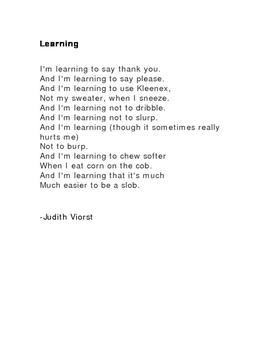 Learning by Judith Viorst