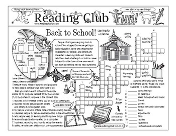 Learning for a Lifetime (Back to School) Two-Page Activity Set