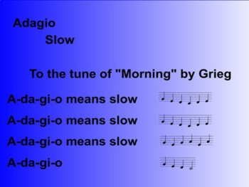 Learning seven basic tempo terms