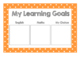 Learning goal display