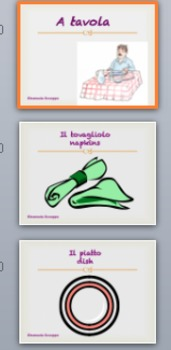 Learning italian words through funny games