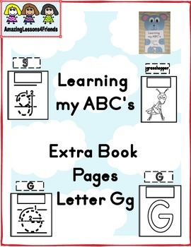 Learning my ABC's Extra Pages Letter Gg