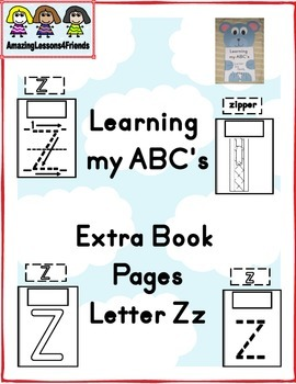 Learning my ABC's Letter Zz Extra pages