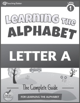 Learning the Alphabet Letter A Workbook in BW