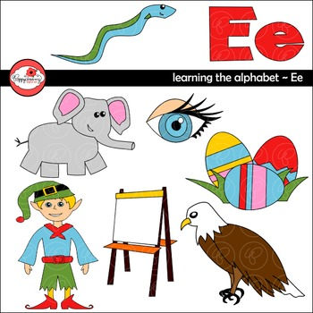 Learning the Alphabet - The Letter E Clipart by Poppydreamz