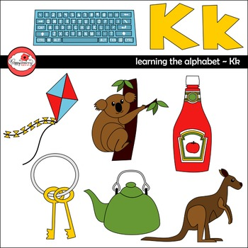 Learning the Alphabet - The Letter K Clipart by Poppydreamz