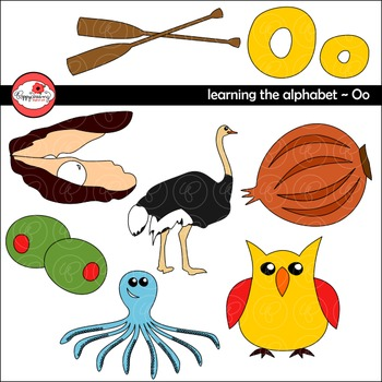 Learning the Alphabet - The Letter O Clipart by Poppydreamz