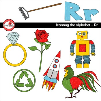 Learning the Alphabet - The Letter R Clipart by Poppydreamz