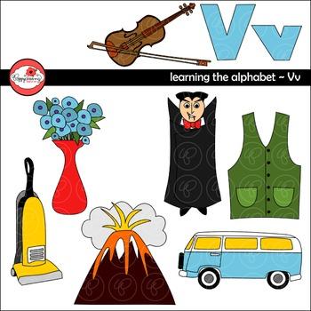 Learning the Alphabet - The Letter V Clipart by Poppydreamz