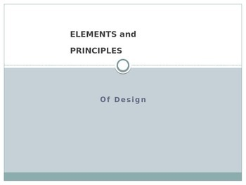 Learning the Elements and Principles of Design