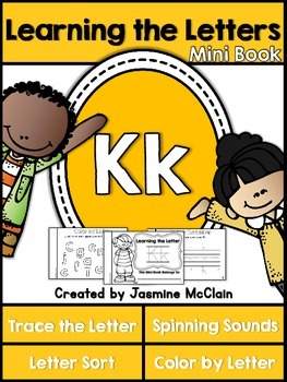 Learning the Letter K Mini Book