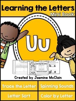 Learning the Letter U Mini Book