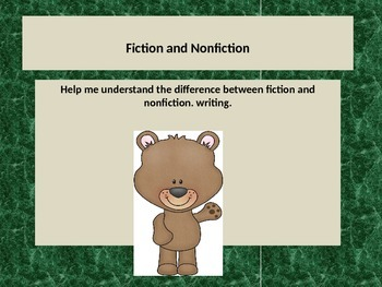 Learning the difference between fiction and nonfiction tex