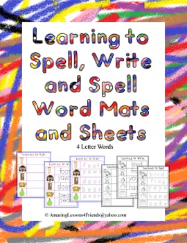 Learning to Spell, Write and Spell Word Mats and Sheets (4