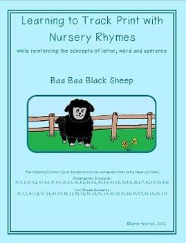 Learning to Track Print with Nursery Rhymes:  Baa Baa Black Sheep
